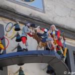 Das Glockenspiel am Rathaus