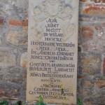 Gedenkstein an der Aegidikirche